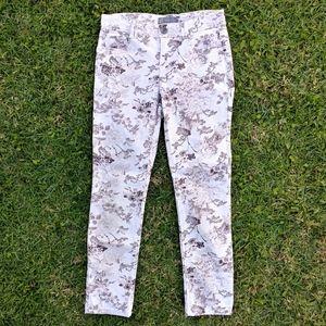 Wit & Wisdom Ab-solution Floral Ankle Jeans Size 6
